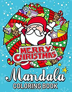 Merry Christmas Mandala Coloring Books: An Adults Coloring Pages Easy and Relaxing Design High Quality