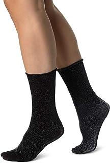 Swedish Stockings LISA SHIMMERY SOCKS sustainable dress socks for women One Size