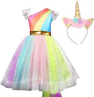 HALLOWEEN Vestido de Princesa de niña de Navidad, Vestido de Performance para niños Unicornio Cosplay de Anime Performance de Escenario