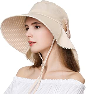 Fancet Womens Packable Wide Gardening Sun Uv Protection Cooling Neck Shade Hat 54-61cm
