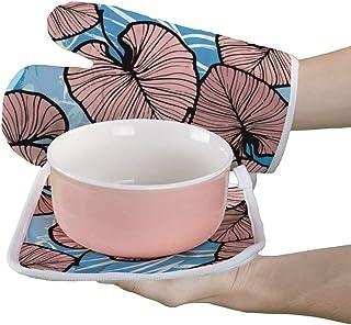 Manoplas de horno y soporte para ollas, guantes de aislamiento resistentes al calor para mamá y nana, regalo para abuela.
