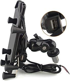evomosa Motorrad Handyhalterung für 3.5'' 6.5'' Smartphone kompatibel mit Motorrad mit Rundem Loch