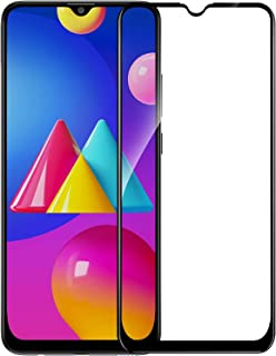 Amazon Brand - Solimo Full Body Edge to Edge Tempered Glass with Installation Kit for Samsung Galaxy M02s - Black