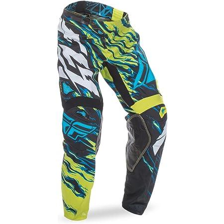 Fly Racing Kinetic Mesh Pants Relapse Hi-Vis//Blue//Pink Yellow, 34