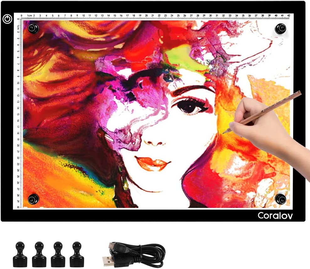 A3 Light Now free shipping Box Drawing Pad with Magnetic USB Type-C Art Cable All items in the store