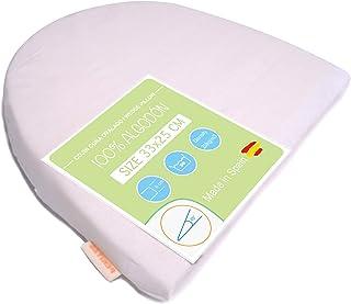 PEKITAS - Cojín antireflujo Almohada Inclinada cuña 33 x 25 cm Embarazo, Color Blanco