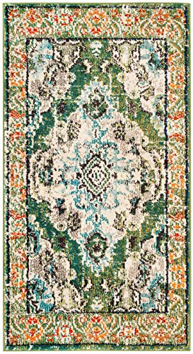Safavieh Monaco Collection MNC243F Boho Chic Medallion Distressed Non-Shedding Stain Resistant Living Room Bedroom Accent Rug, 2'2