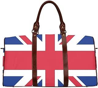 Duffel Bag Union Jack UK Flag Waterproof Travel Bag Women Weekender Overnight Bag
