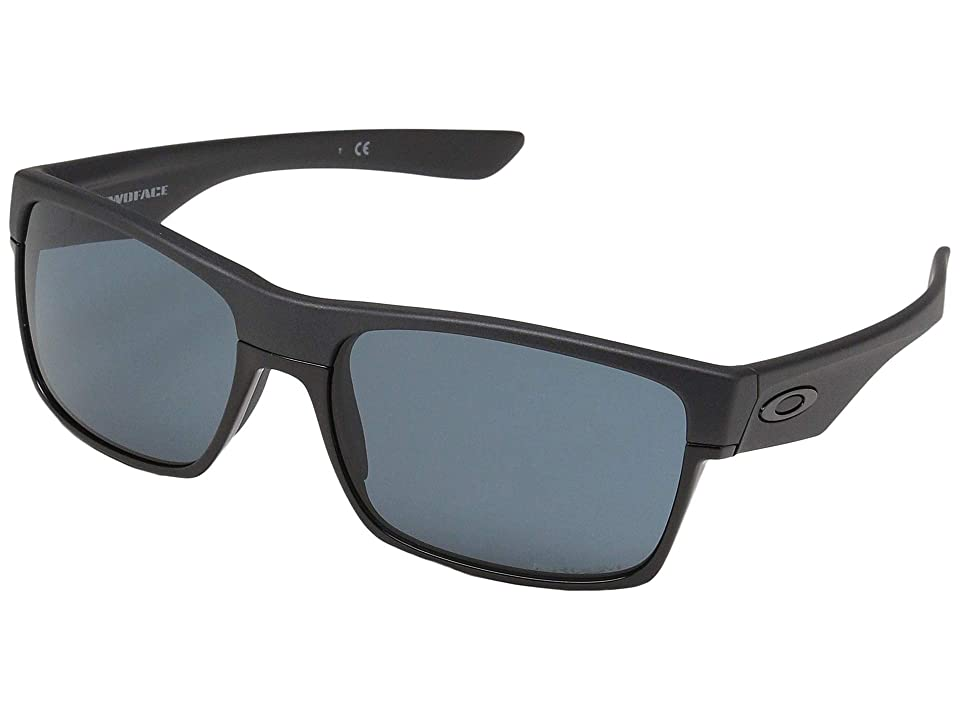 Oakley Twoface (Steel w/ Prizm Grey) Fashion Sunglasses