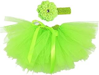 Newborn Baby Girls Birthday Layered Tulle Tutu Skirt Flower Headwear Outfits