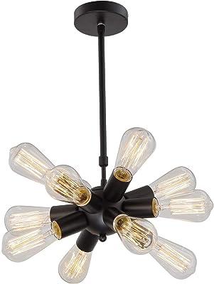 Lámpara de araña LED Lámpara de techo de hierro de estilo ...