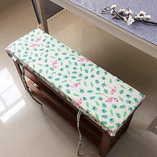 YINGLUO Cojín de banco de alta elasticidad de 2 a 3 plazas, cómodo cojín de 4 cm de grosor, almohadilla antideslizante para silla de interior y exterior