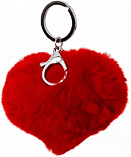 Best red leather heart keyring Reviews