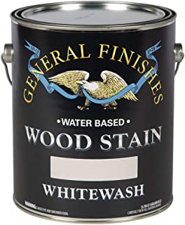 General Finishes WIGA Water Based Wood Stain, 1 Gallon, Whitewash