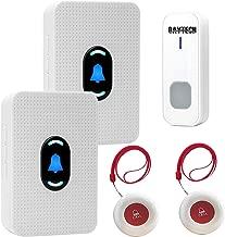 CAPMESSO Inal/ámbrico Sistema de Alerta de Seguridad para El hogar con Bot/ón de Llamada de Emergencia Monitor de Llamadas para Personas Mayores