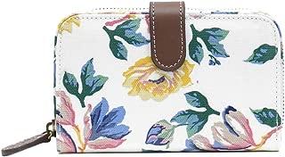 Reya Rosette Wisteria Bloom Mini Zip Wallet with Leather Fastener