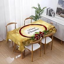 Kerst Rechthoekig Tafelkleed - Kerst Waterdicht Tafelkleed Eettafel Thuis Rechthoekige Eettafel Cover Mode Kerst Print Bui...