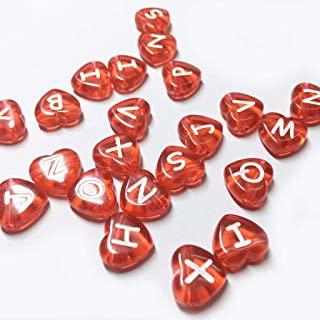 Beads & Jewelry Making Jewelry & Accessories Charitable Mixed English Letter Acrylic Beads 100pc Flat Heart Alphabet Number Beads For Charms Bracelet Necklace For Jewelry Making Diy