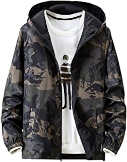 Luca-Coat LUCAMORE Mens Fashion Hip Hop Slim Fit Jacket Two Sides Wear Printed Thin Bomber Windbreaker Jacket Plus Size