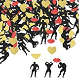 Bachelorette Party Decorations Confetti I Male Stripper Pole Dancers Men in Different Posses I Naughty Funny Parties I Hen Girls Night Out Naughty Props I Glitter Bridal Shower Supplies I Confetti's