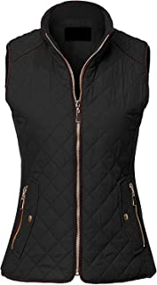 Sleeveless Lightweight Zip Up Quilted Padding Vest Jacket for Women (S-3XL)