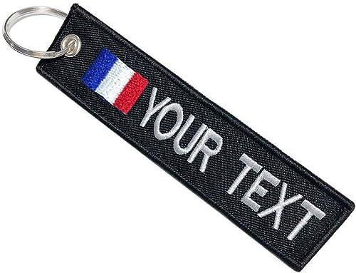 Porte-clés personnalisé personnalisé pour Voiture, Motard, Moto, étiquette de Porte-clés de personnalité de Texte de ...