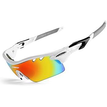 Inbike Gafas de Sol Polarizadas Para Ciclismo con 5 Lentes Intercambiables Uv400 y Montura de Tr-90, Gafas Para Mtb Bicicleta Montaña 100% de Protección Uv(Blanco): Amazon.es: Deportes y aire libre