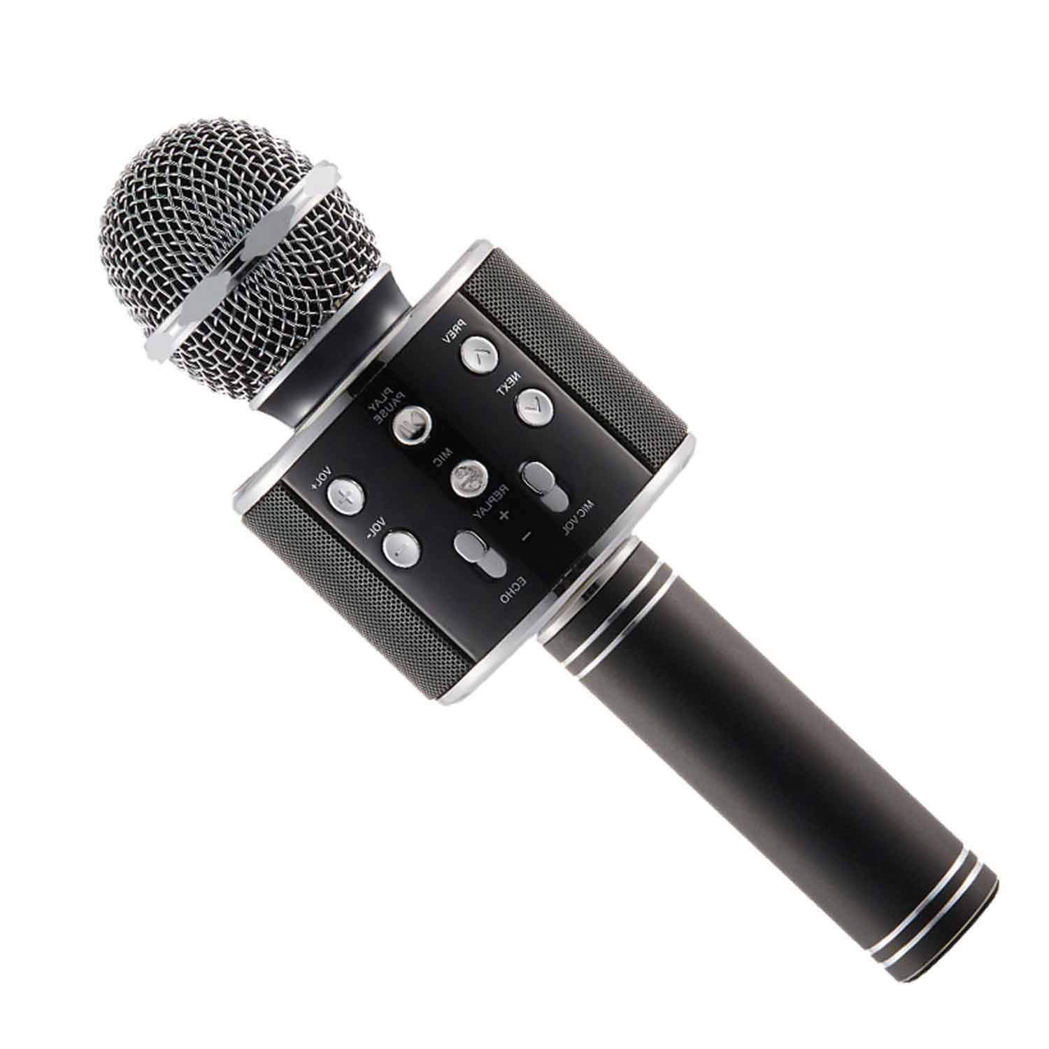 zqasales Bluetooth Microphone, Wireless Karaoke Microphone with ...