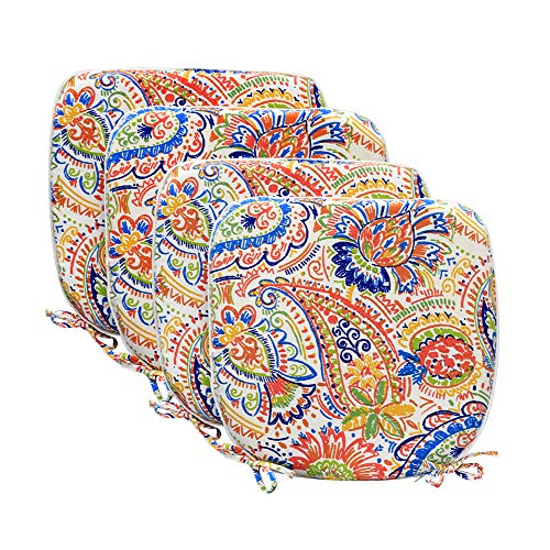 Pcinfuns Indoor/Outdoor All Weather Chair Pads Seat Cushions Garden Patio Home Chair Cushion,17' X 16',Set of 4