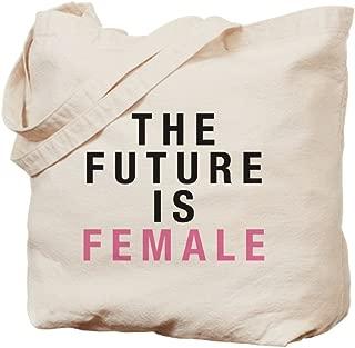 CafePress Future Is Female Natural Canvas Tote Bag, Reusable Shopping Bag
