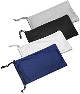 نظارات شمسية من الألياف الدقيقة 4X حقيبة للتنظيف والتخزين