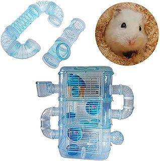 Asseny H/ölzernes Labyrinth-Spielzeug 13 Gitter-Hamster-Tunnel-Labyrinth-Haus f/ür kleines Haustierspielzeug