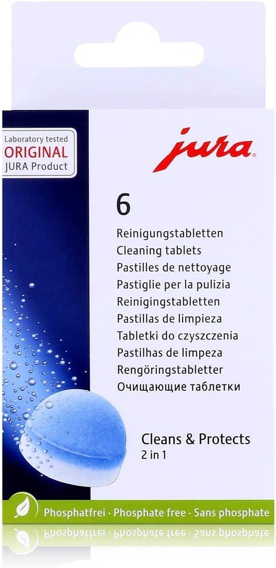 Jura 62715 - Pastillas de limpieza para el grupo de café, embalaje puede variar
