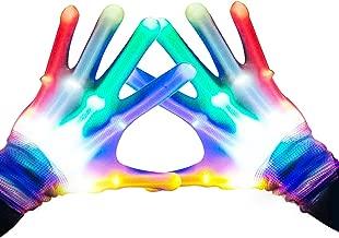 Festival Regalo per Feste per Bambini e Bambine per Discoteche Rave Halloween Notte di fal/ò Multicolore Guanti a LED Lampeggianti con 6 modalit/à di Illuminazione Welltop
