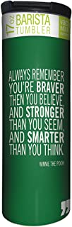 Tree-Free Greetings Braver Stronger Smarter Vacuum Insulated Travel Coffee Tumbler, 17 Ounce Stainless Steel Mug, Winnie the Pooh Quote (BT21975)