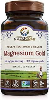 Chelated Supplement, 400 Mg, Highly Bioavailable Full-Spectrum Chelate Better Than Magnesium Glycinate, Malate, or Oxide, 120 Vegan Capsules
