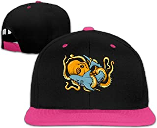 Octopus Vs Shark Baseball Cap Snapback Hat