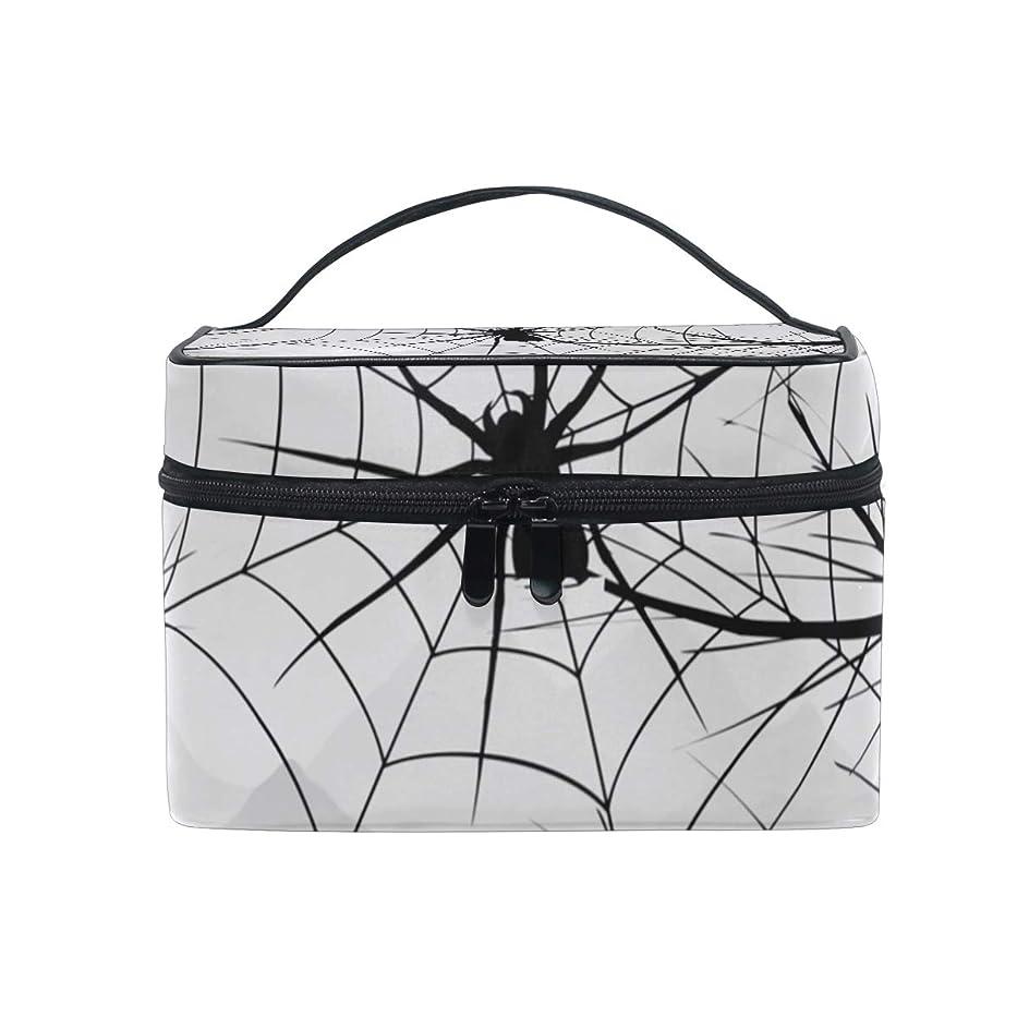 フロンティア系統的やめるメイクボックス 動物のクモ柄 化粧ポーチ 化粧品 化粧道具 小物入れ メイクブラシバッグ 大容量 旅行用 収納ケース