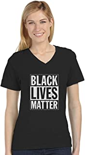 Black Lives Matter - Freedom Civil Rights Justice V-Neck Women T-Shirt
