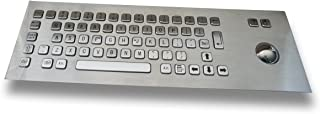 Front / Top Mounting - Standard 64 keys stainless keyboard - with Optical Trackball - USB or PS2 interface - US layout