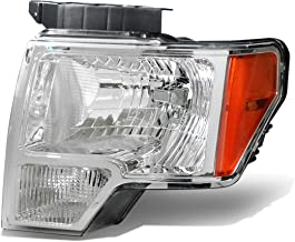 1Pc Driver/Left Side OE Style Chrome Housing Headlight Lamp for Ford F150 09-14