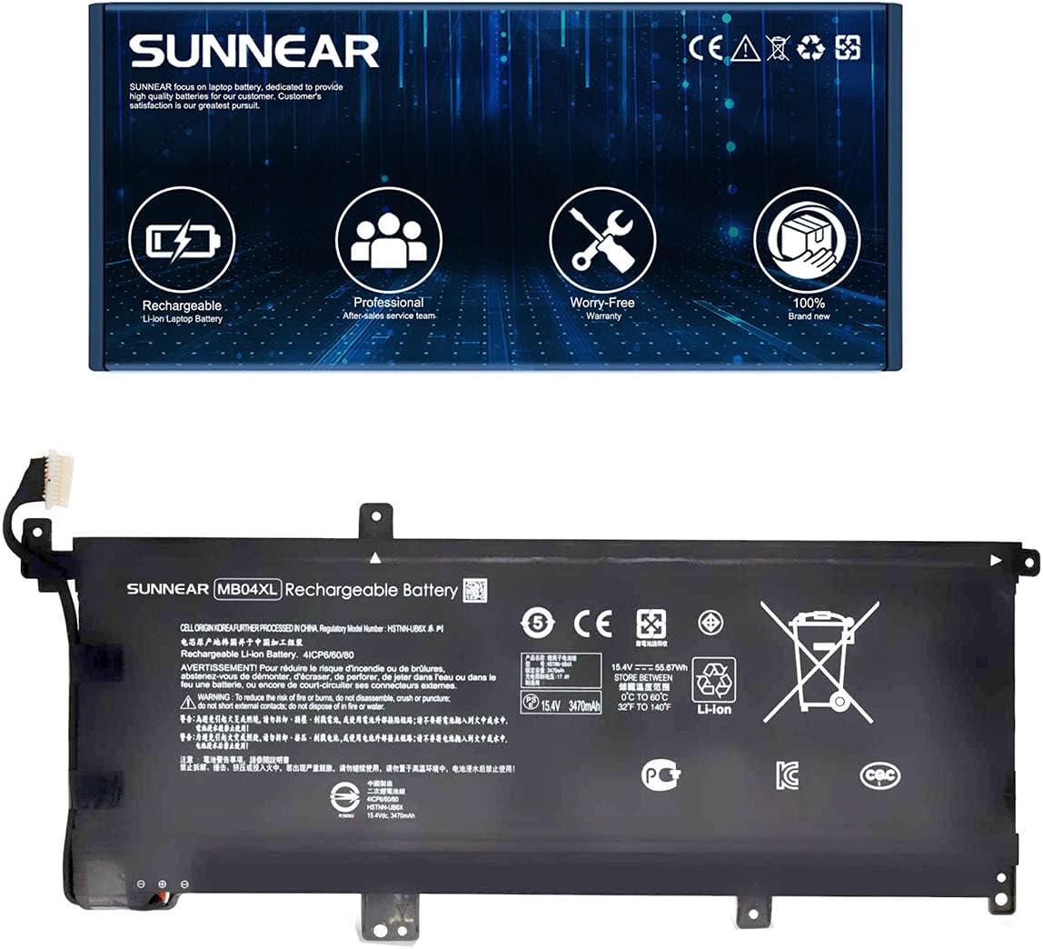 online shop SUNNEAR MB04XL 844204-850 Laptop Battery for Envy HP Replacement OFFicial store