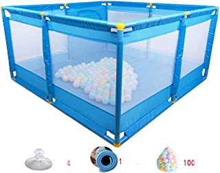 GHMOZ Baby Safety Toddler Crawling Mat Fence Toy Children Fence Indoor Home Baby Game Fence Fence  Color Blue
