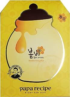 Papa Recipe BOMBEE HONEY Facial Mask 10pcs with Propolis & Honey Korean Facial Mask
