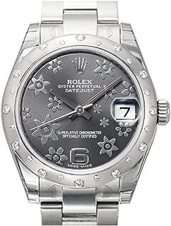 ROLEX Datejust 31 Dark Rhodium Diamond Dial Stainless Steel and 18K White Gold Ladies Watch 178344