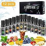 Gifort 12 X 10ml E-liquide pour Cigarette Electronique Liquide sans Nicotine ni Tabac avec 50% VG 50% PG de Fruits (12 *...