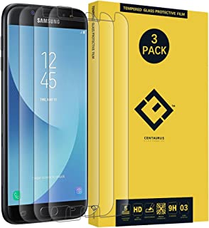 CE CENTAURUS ELECTRONICS Samsung Galaxy J7 Pro 2017 Glass Screen Protector,(3 Packs) Anti-Glare Ultra-Thin Clear 9H Hardne...