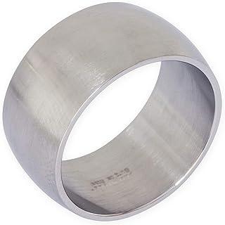 Fly Style® anello spesso di acciaio inox, da uomo e da donna, argento opaco, per motociclisti e rockettari, bigiotteria