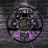 kkkjjj Montre Record Metal Forever Rock Band Musique Légende Heavy Metal Rock Skull Montre Disque Vinyle Édition Premium