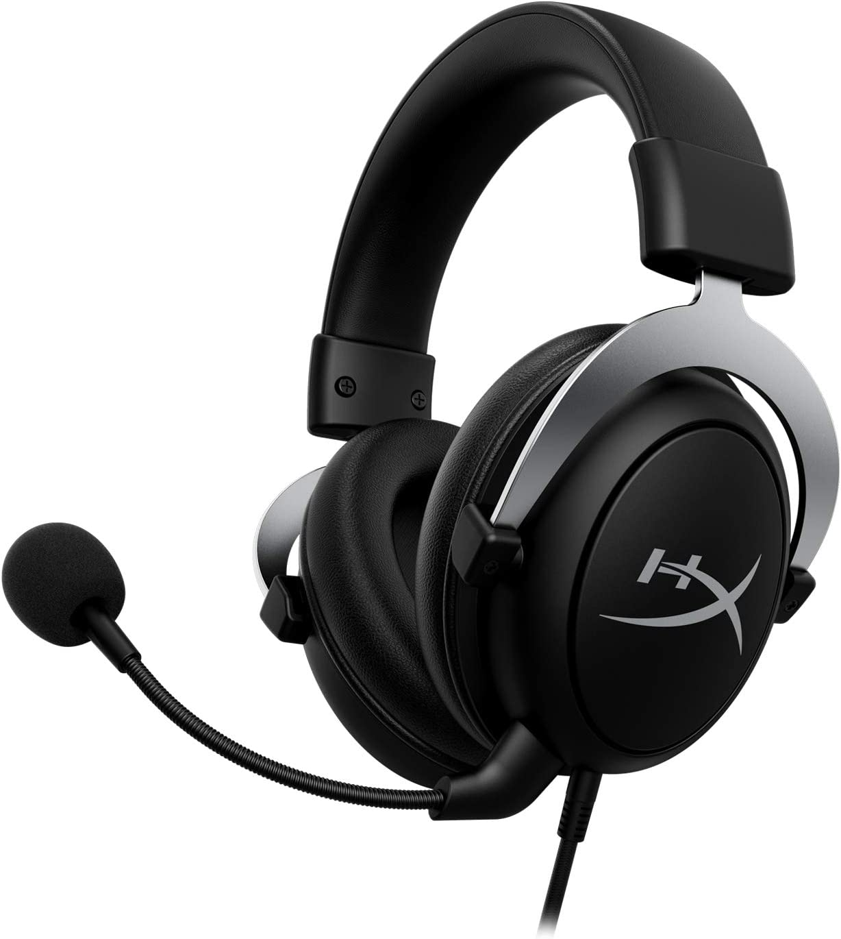 HyperX CloudX, Official Xbox Licensed Gaming Headset, Compatible with Xbox One and Xbox Series X S, Memory Foam Ear Cushions, Detachable Noise-Cancelling Mic, in-line Audio Controls, Silver